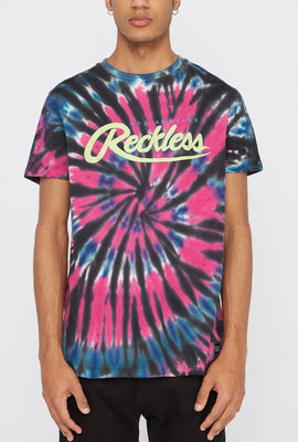 T-Shirt Tie-Dye Young & Reckless Homme