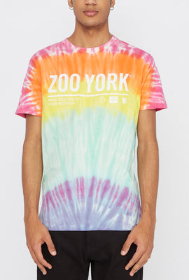 Zoo York Mens Rainbow Tie-Dye T-Shirt