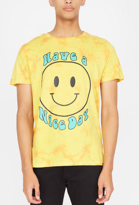 Mens Have a Nice Day Tie-Dye T-Shirt