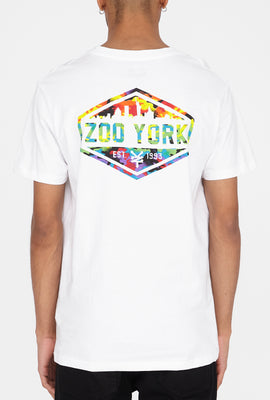 Zoo York Mens Rainbow Camo Skyline Logo T-Shirt