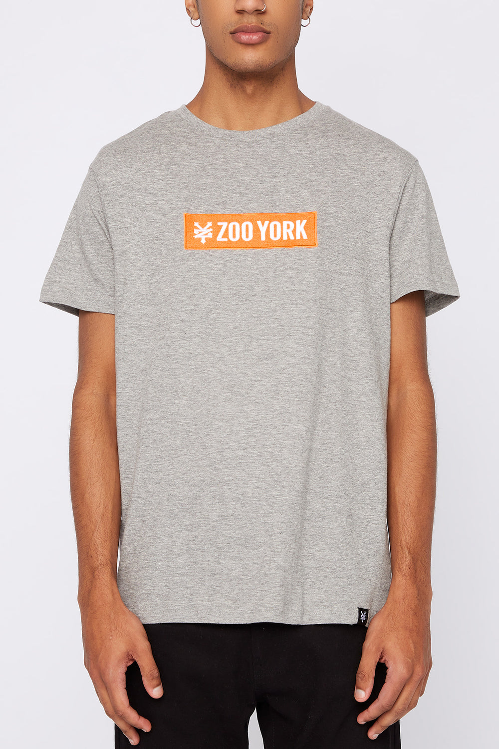 Zoo York Mens Patch Logo T-Shirt Heather Grey