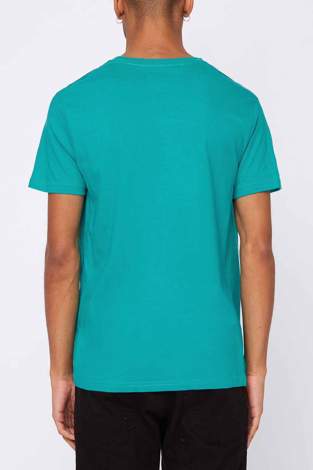 Zoo York Mens Patch Logo T-Shirt Turquoise