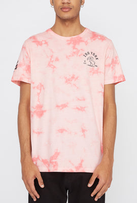 Zoo York Mens Pink Flamingo Logo Tie-Dye T-Shirt