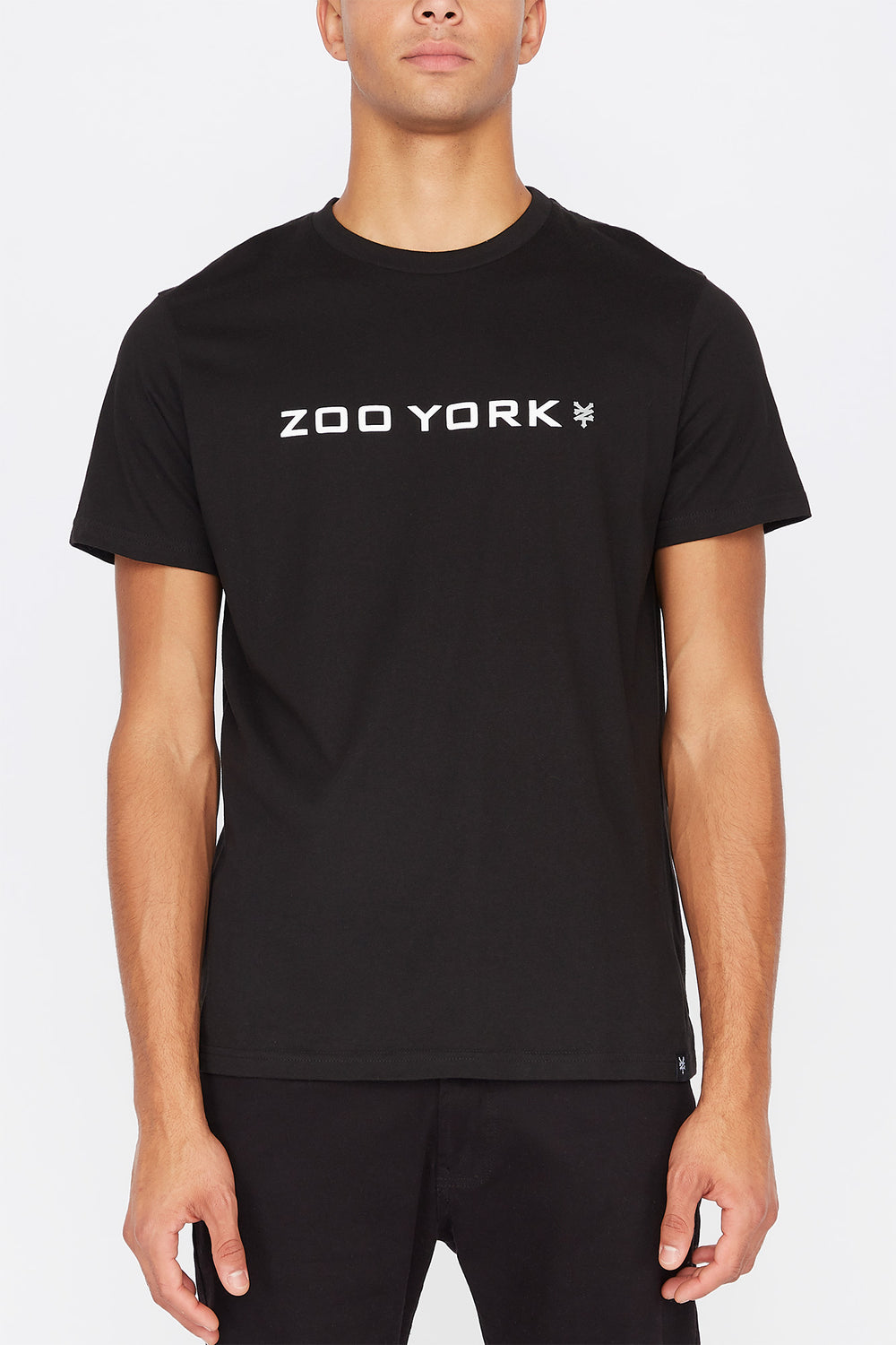 Zoo York Mens Box Logo T-Shirt Black