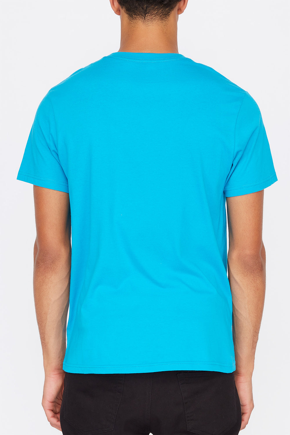 Zoo York Mens Box Logo T-Shirt Ocean Blue