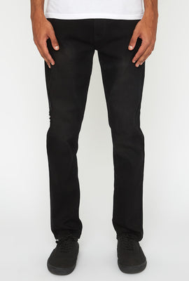 Zoo York Mens Distressed Black Stretch Slim Jeans