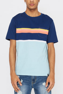 Zoo York Mens Striped Pocket T-Shirt