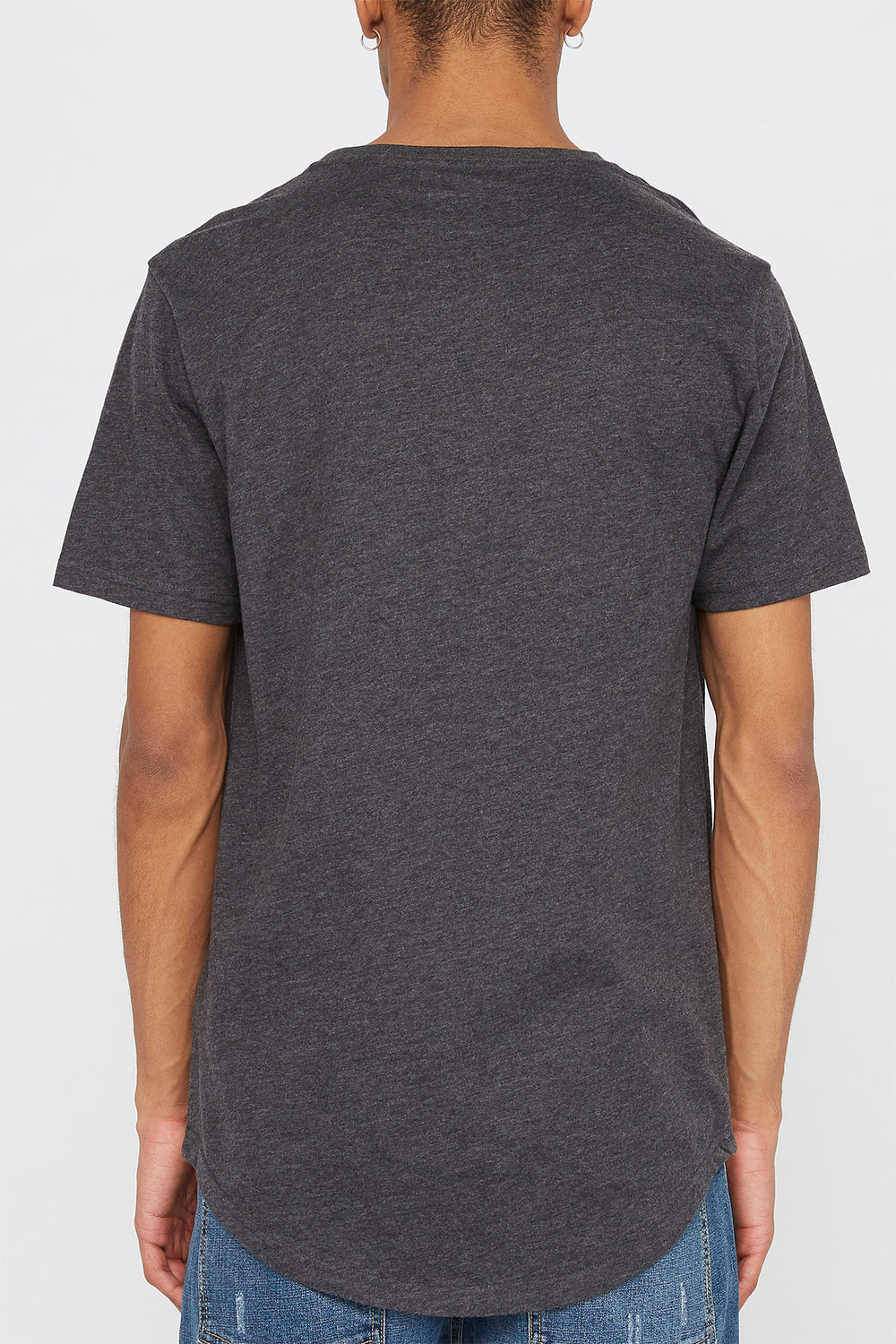 Zoo York Mens Pocket T-Shirt Charcoal