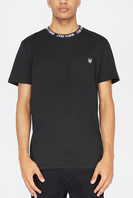 Zoo York Mens Jacquard Collar T-Shirt