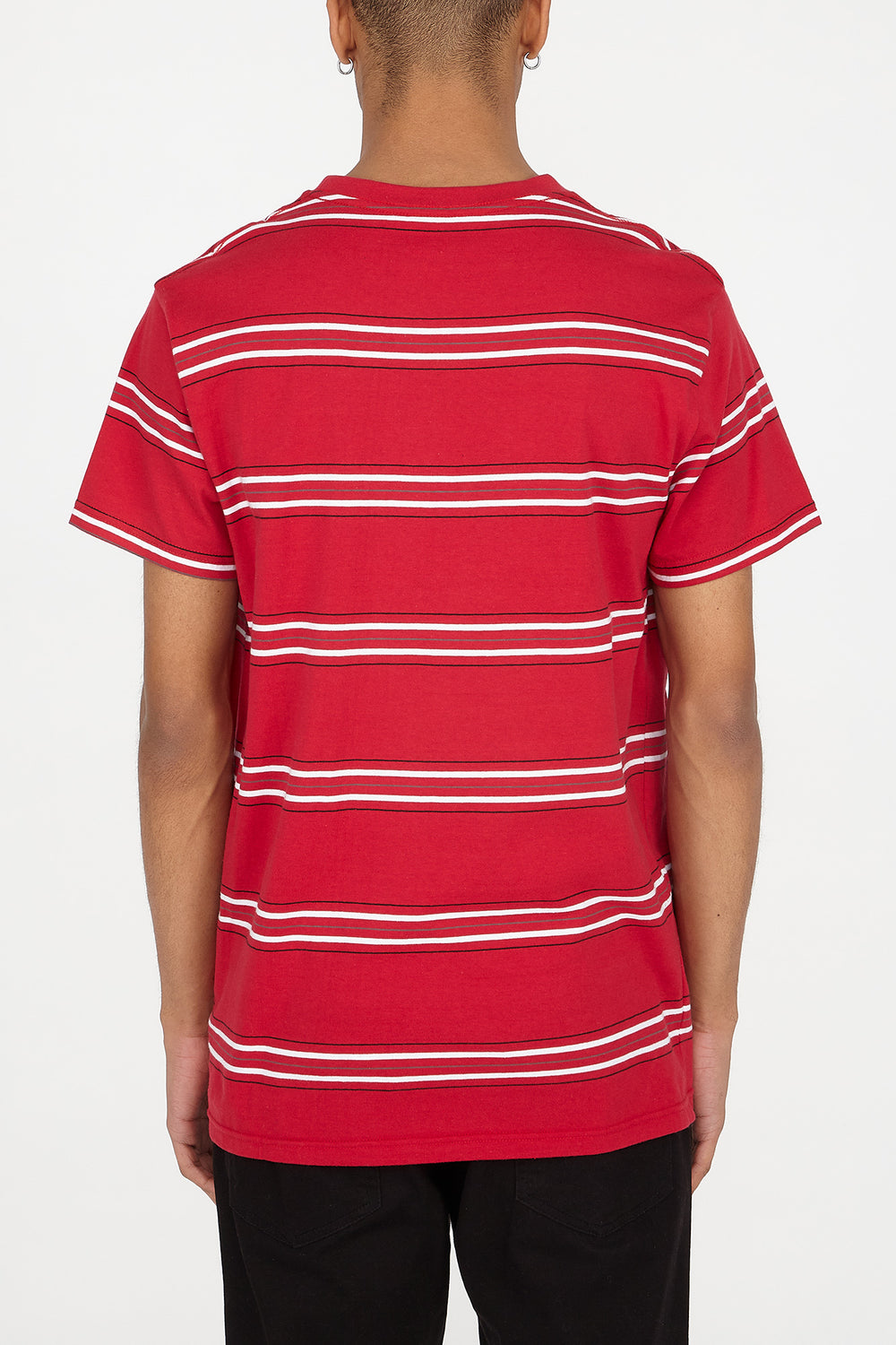T-Shirt Rayé Zoo York Homme Rouge
