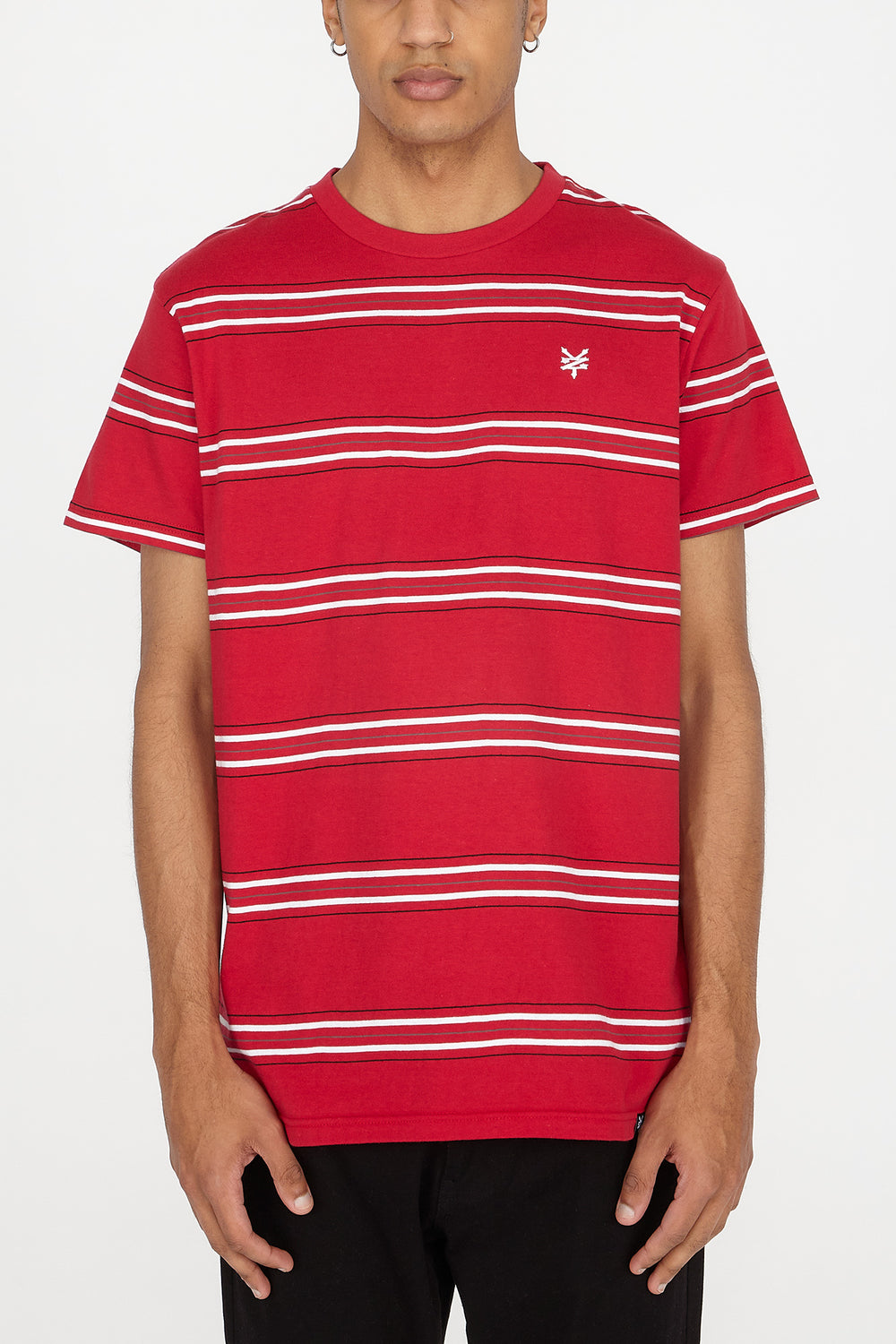 Zoo York Mens Striped T-Shirt Red