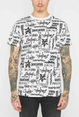 T-Shirt Logos Graffiti Zoo York Pour Homme