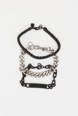 Zoo York Black and Silver Bracelets