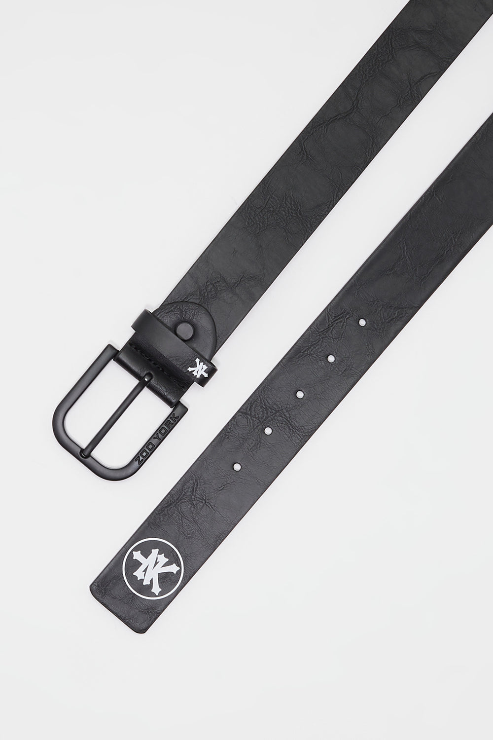 Zoo York Mens Faux Leather Belt Black