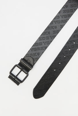Zoo York Mens Faux Leather Belt