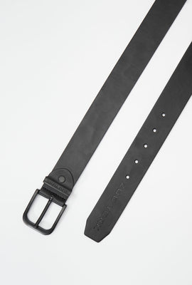 Zoo York Matte Black Faux-Leather Belt