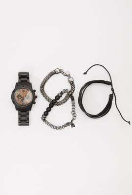 Zoo York Mens Black and Copper Watch Set
