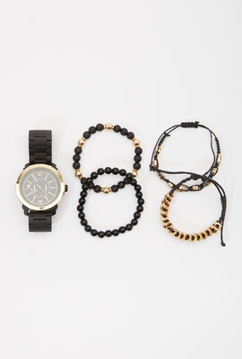 Zoo York Mens Black and Gold Watch Set
