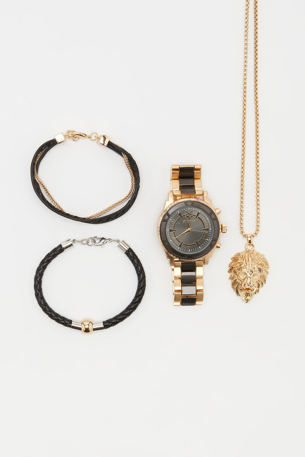 Zoo York Mens Gold Tone and Black Watch Gold