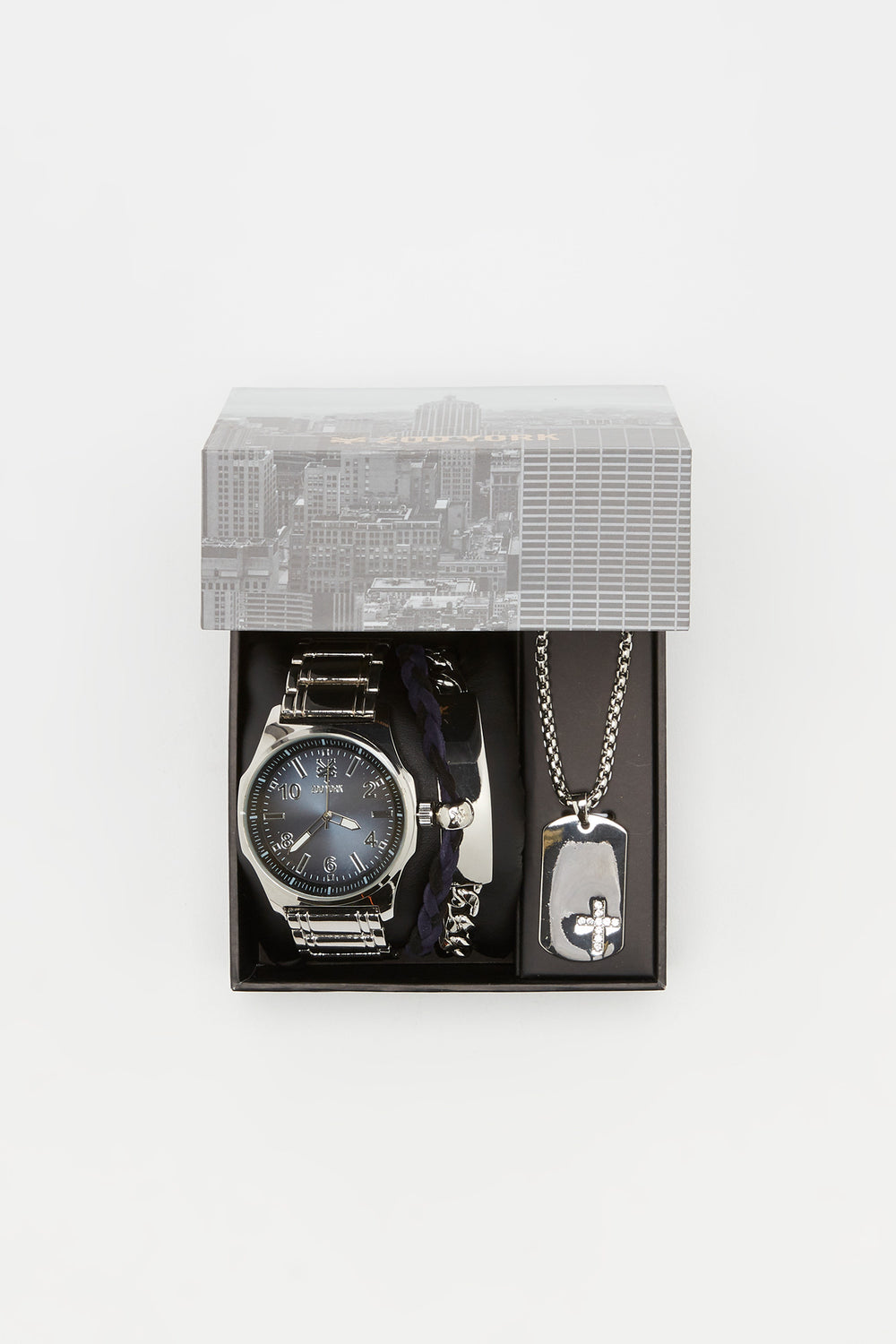 Zoo York Mens All Silver Tone Watch Silver