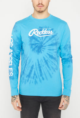 Young & Reckless Mens Spiral Tie Dye Long Sleeve Top