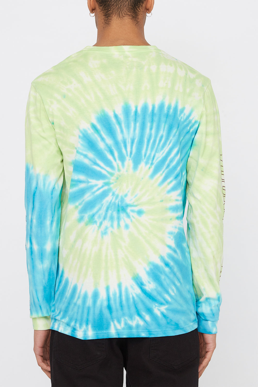 Young & Reckless Mens Tie-Dye Long Sleeve Neon Green