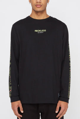 Young & Reckless Mens Neon Floral Long Sleeve