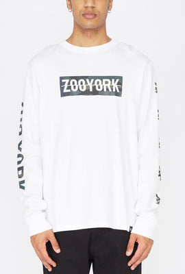 Zoo York Mens Camo Fill Logo Long Sleeves