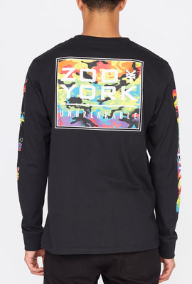 Zoo York Mens Rainbow Camo Long Sleeve Shirt