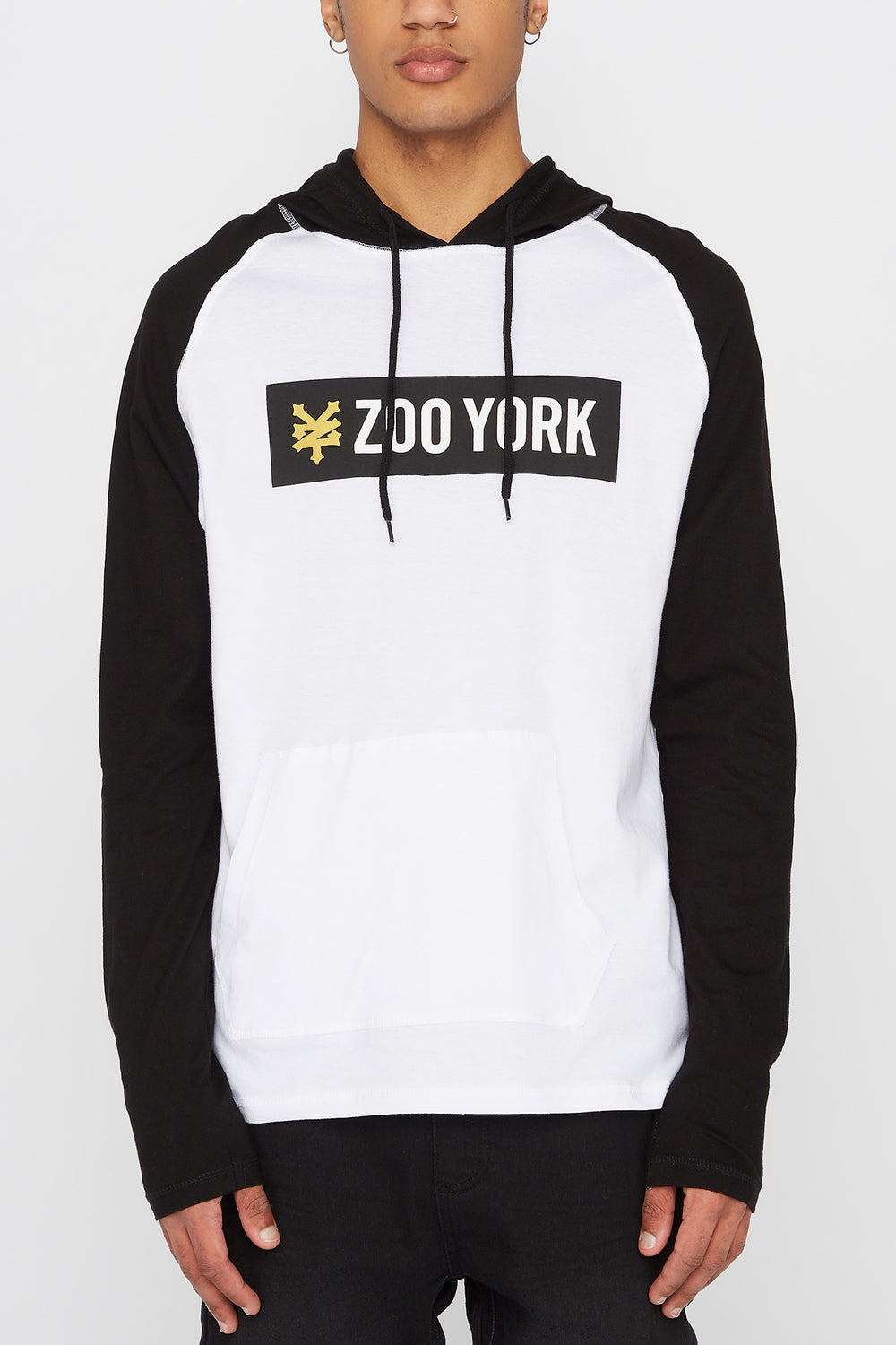 Zoo York Mens Hooded Long Sleeve Shirt White