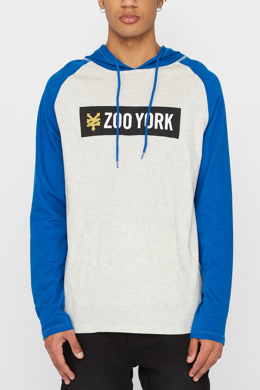 Zoo York Mens Hooded Long Sleeve Shirt Oatmeal