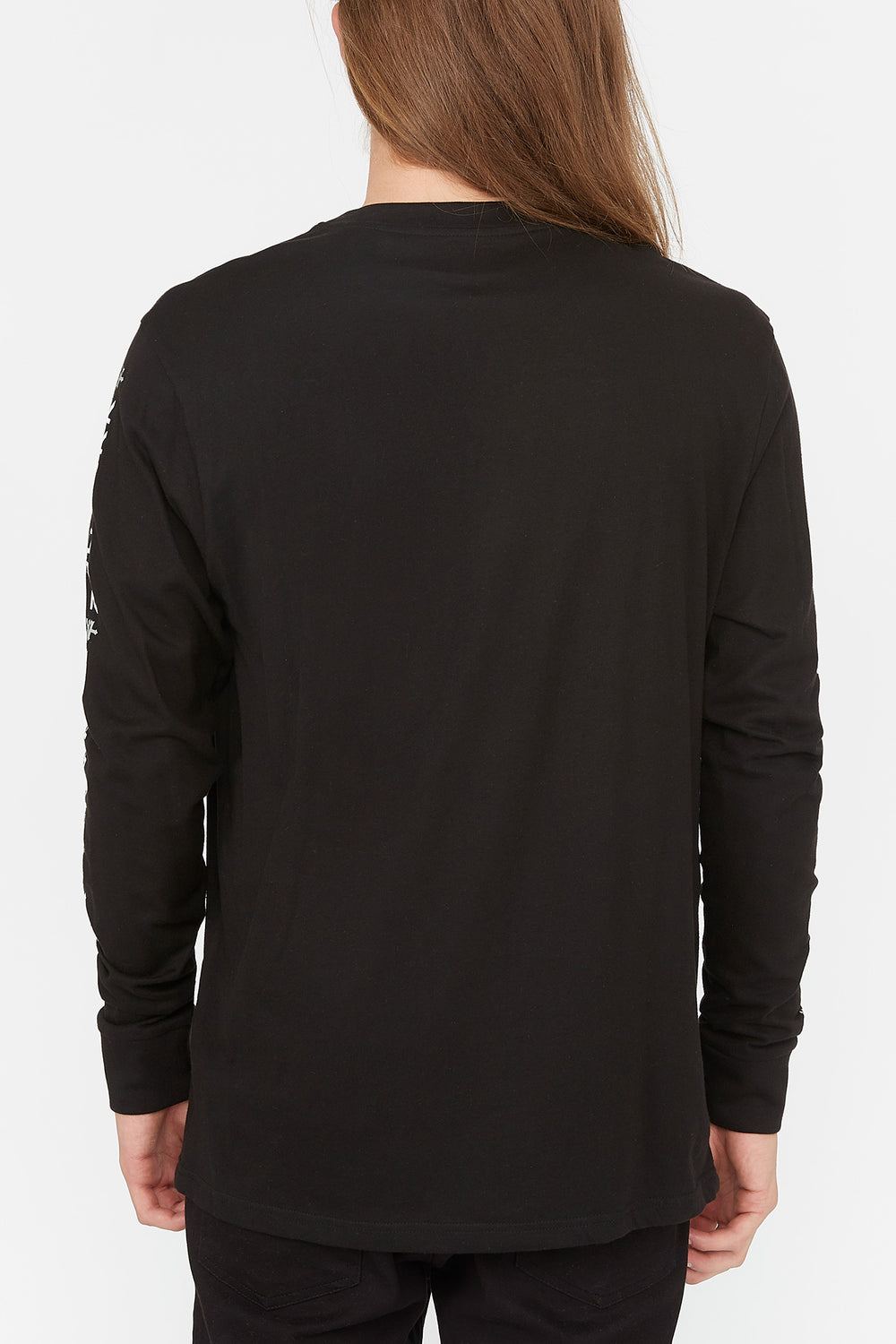 Zoo York Mens Box Logo Long Sleeve Black