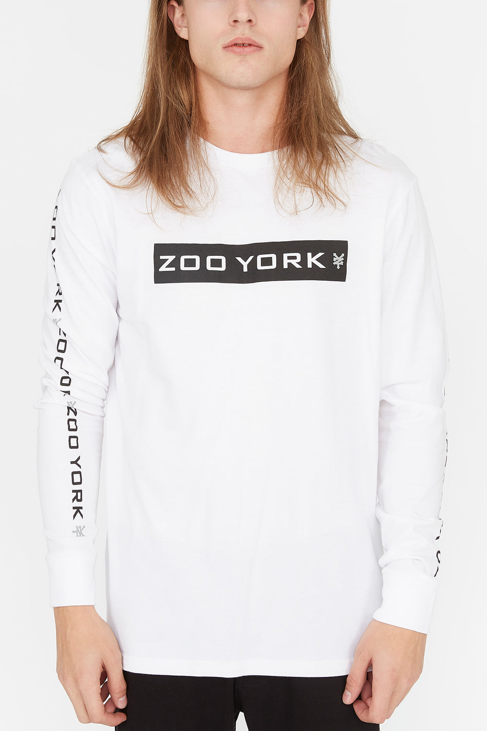 Zoo York Mens Box Logo Long Sleeve White