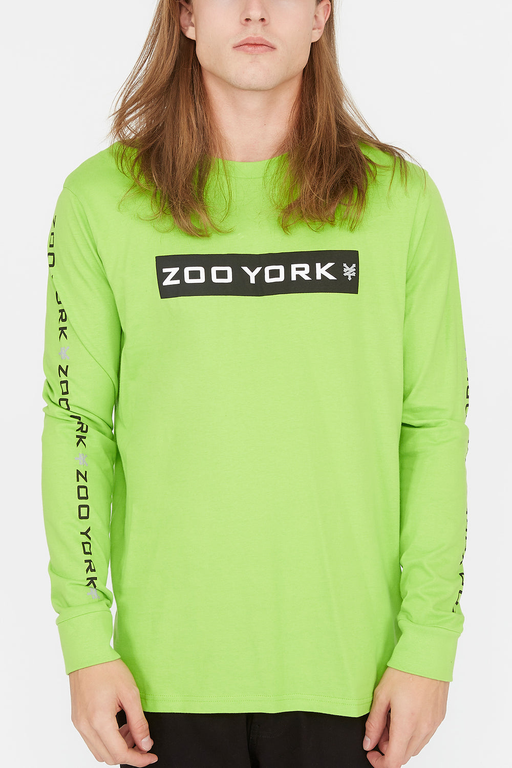 Zoo York Mens Box Logo Long Sleeve Green