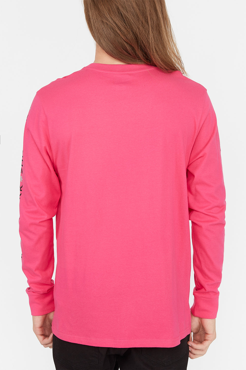 Zoo York Mens Box Logo Long Sleeve Magenta