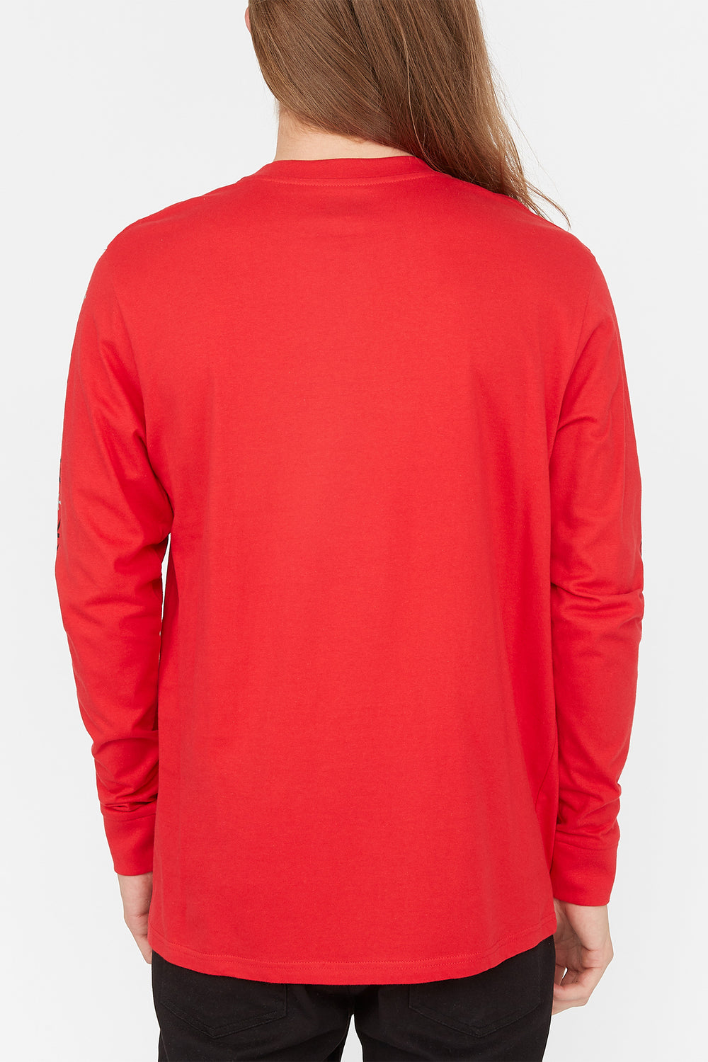 Zoo York Mens Box Logo Long Sleeve Red