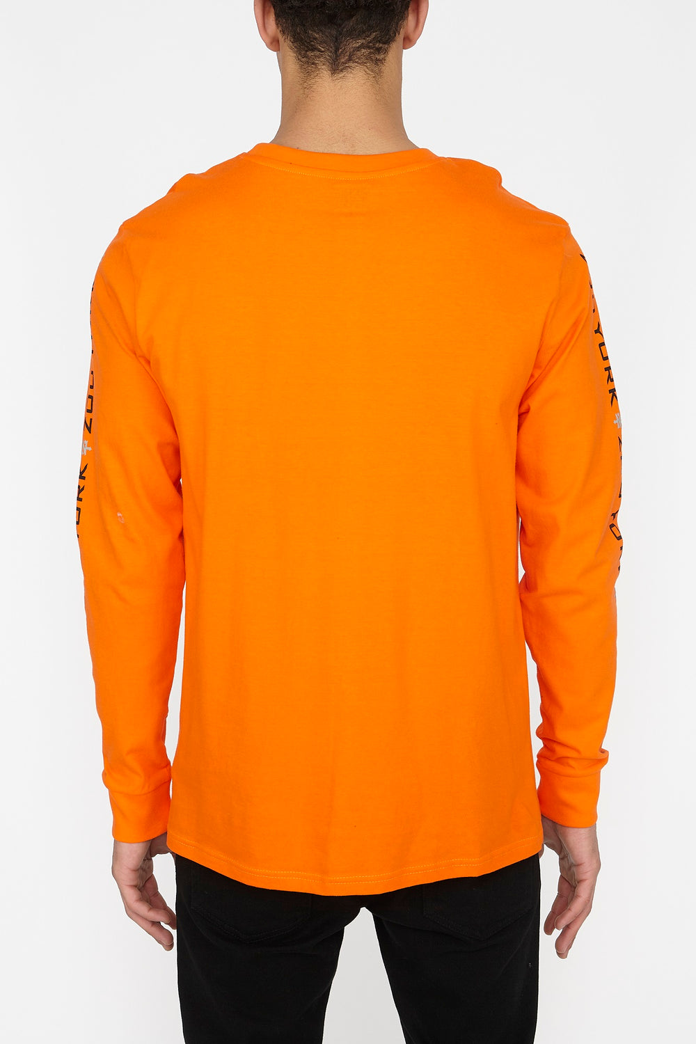 Zoo York Mens Box Logo Long Sleeve Orange