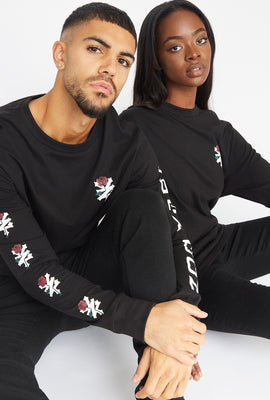 Zoo York Unisex Rose Logo Black Long Sleeves