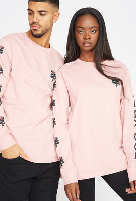 Zoo York Unisex Rose Logo Pink Long Sleeves