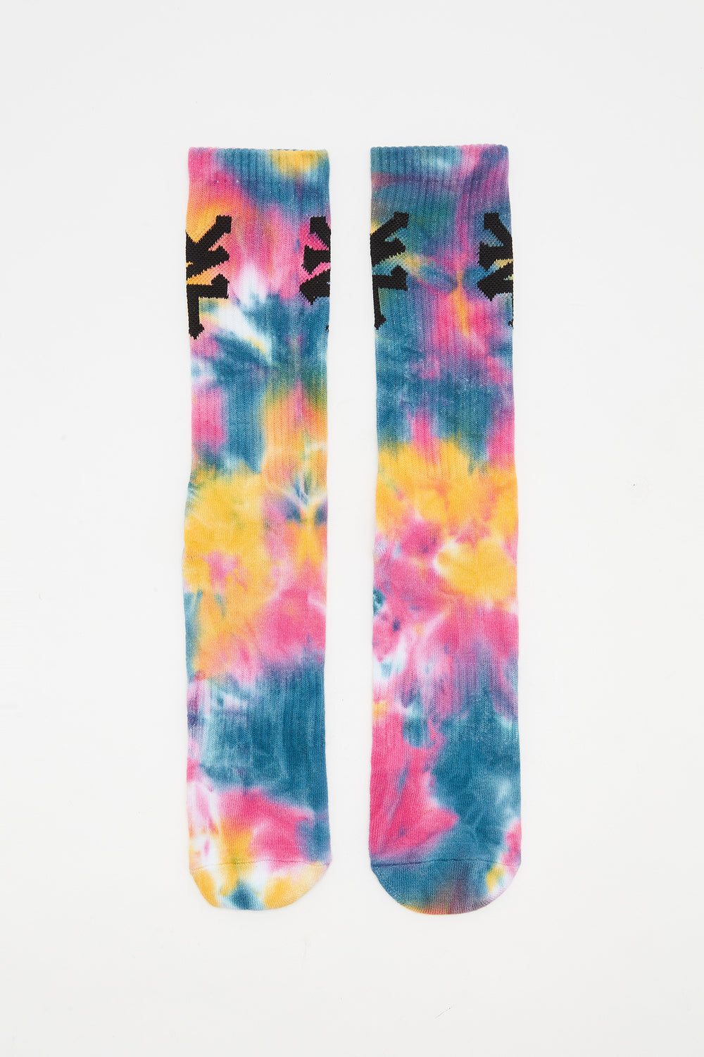 Zoo York Mens Tie-Dye Crew Socks Multi
