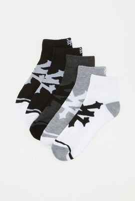 Zoo York Mens Ankle Socks 5-Pack