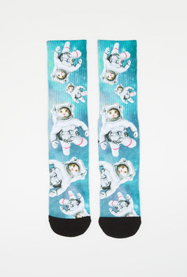 Zoo York Mens Sublimated Graphic Crew Socks