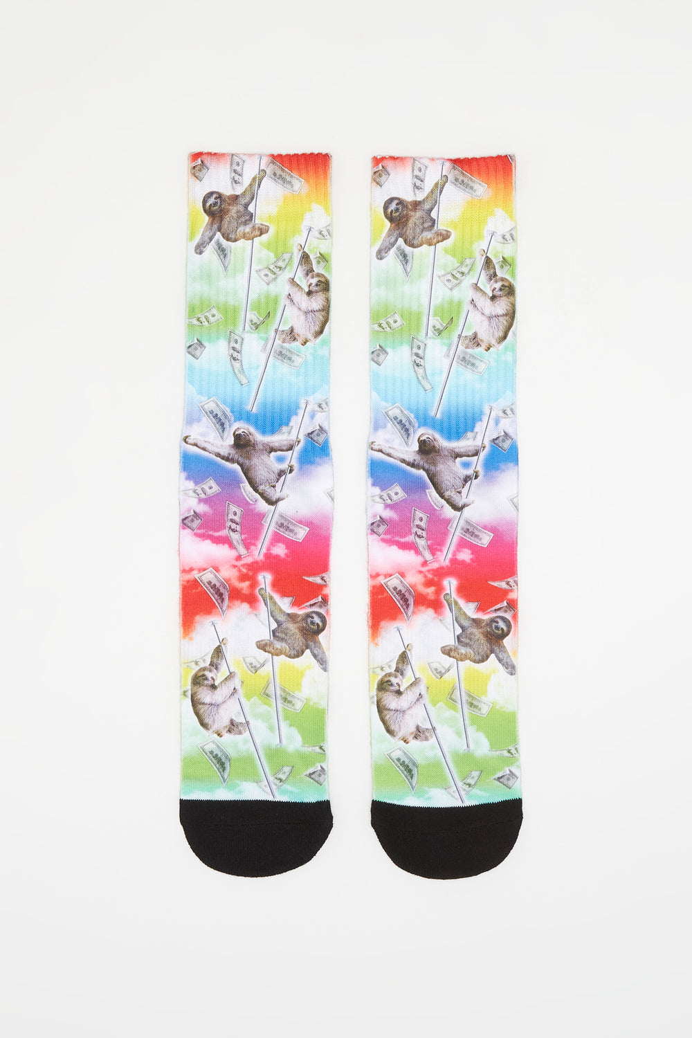 Zoo York Mens Sublimated Graphic Crew Socks Rose