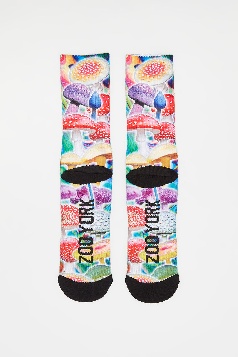 Zoo York Mens Sublimated Graphic Crew Socks Multi