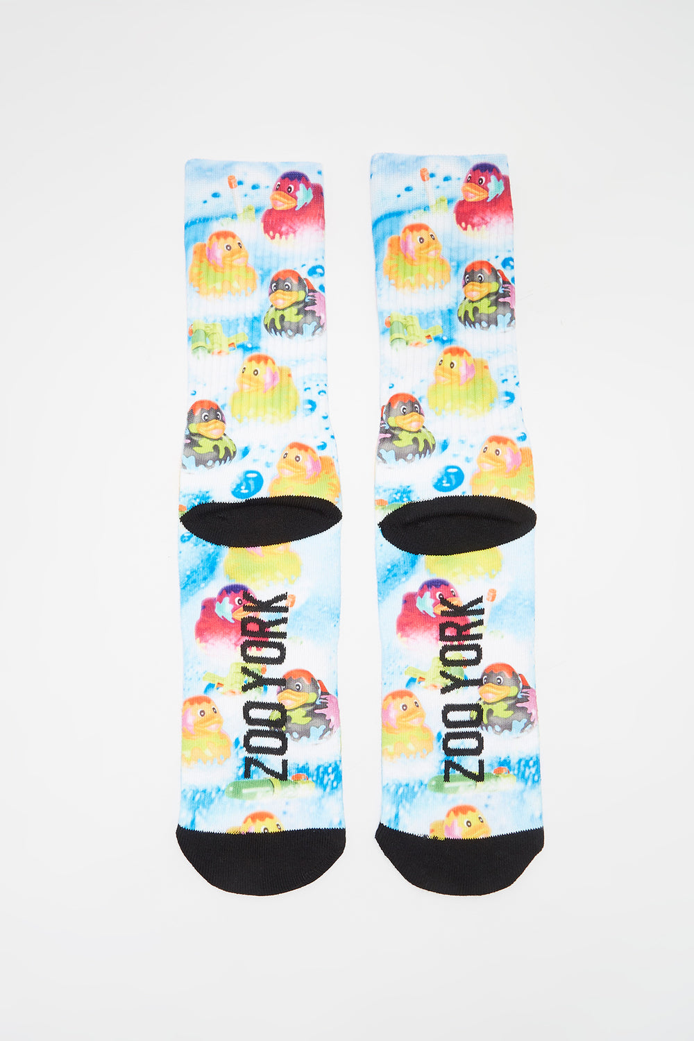 Zoo York Mens Graphic Crew Socks Blue