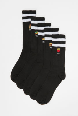 Fast Food Crew Socks (5-Pack)