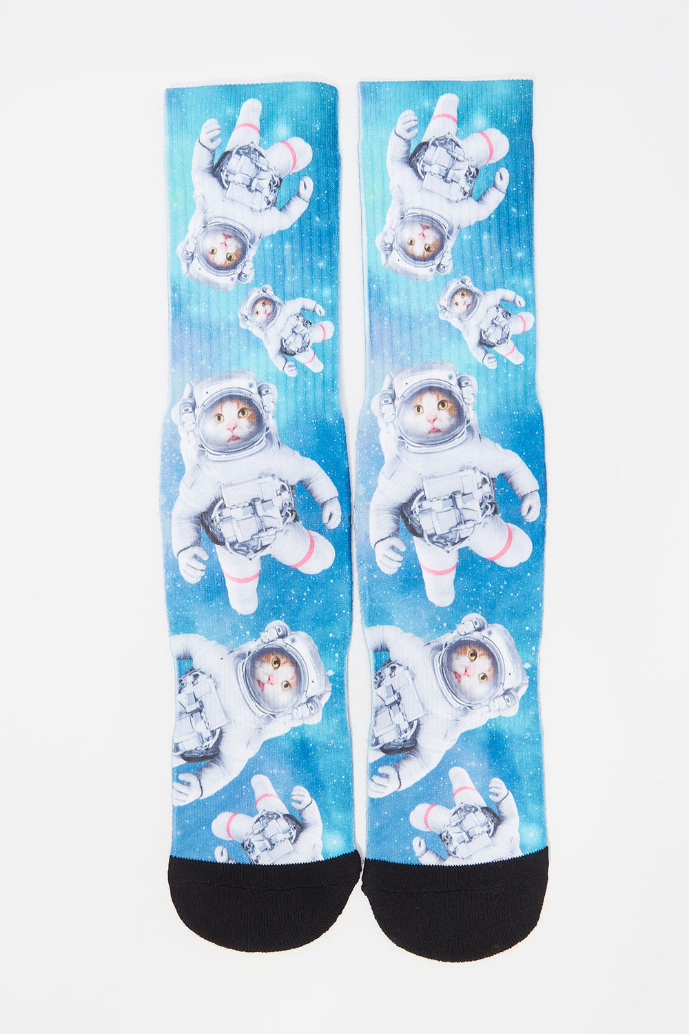Zoo York Mens Space Cat Crew Socks Green