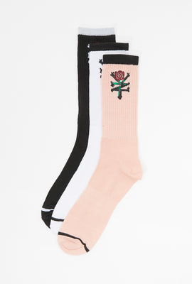 Zoo York Unisex Crew Socks 3-Pack