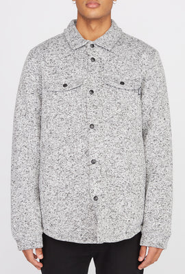 West49 Mens Textured Button-Up Light Jacket
