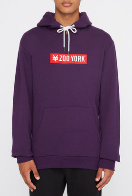 Haut À Capuchon Logo Patch Rouge Zoo York Homme
